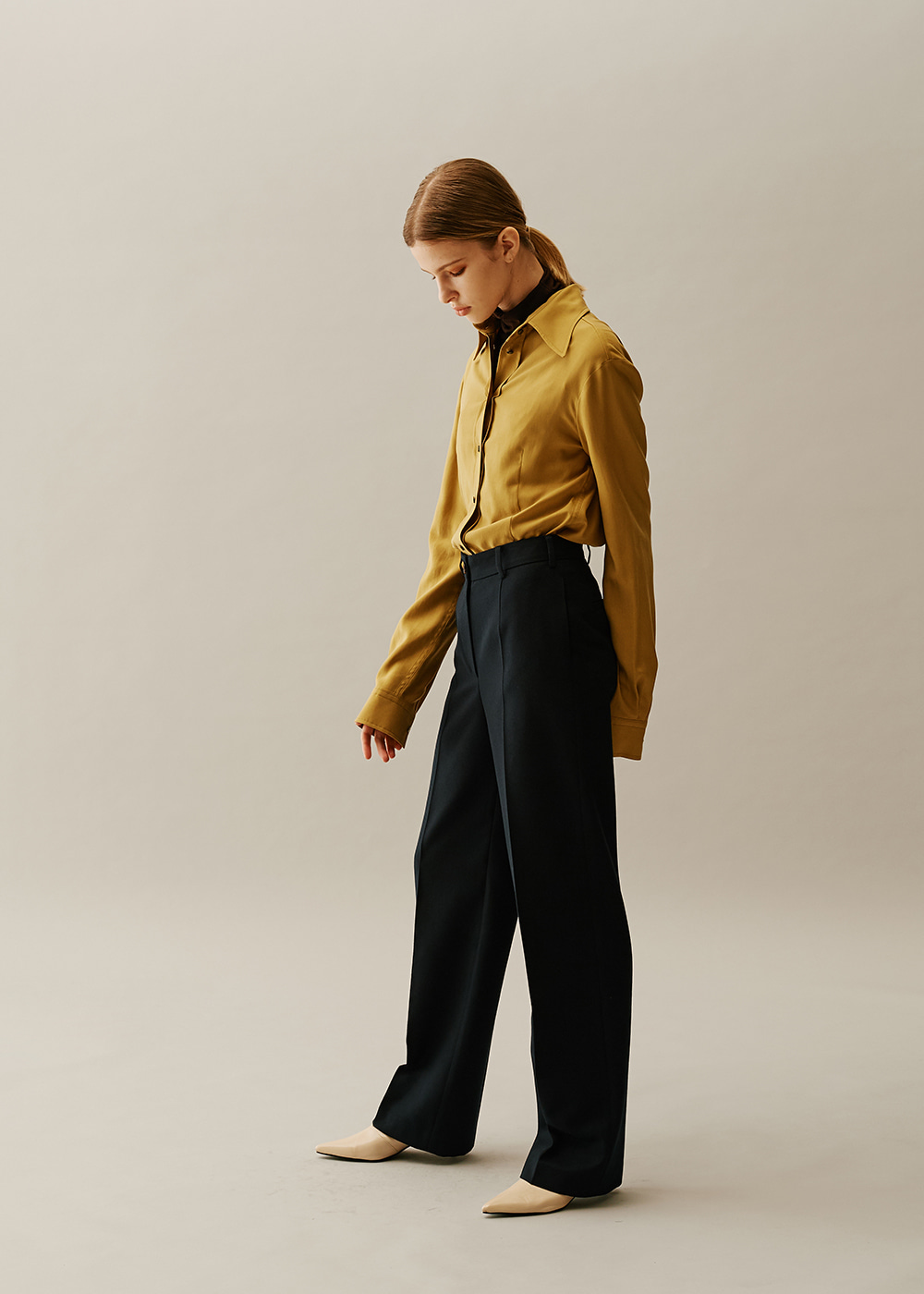 Straight Classical Pants NAVY