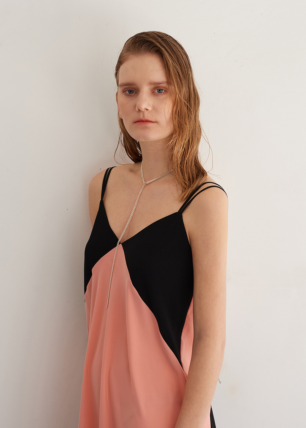 ColorBlock Camisole Dress PINK