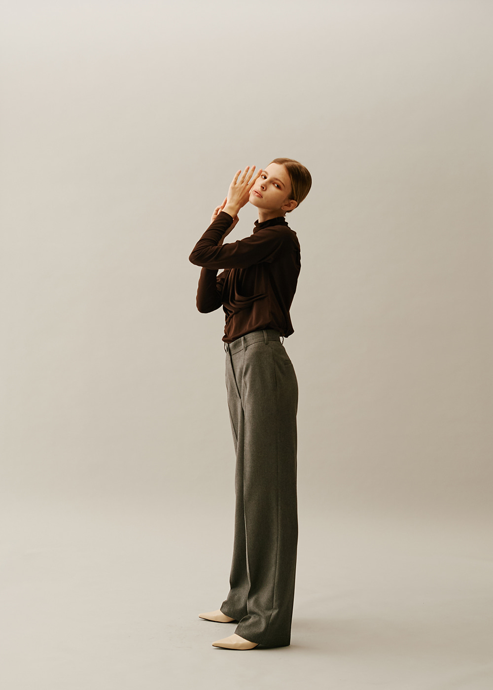 Straight Classical Pants GRAY