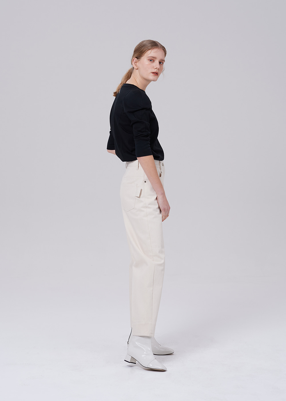 Unique Denim Pants IVORY