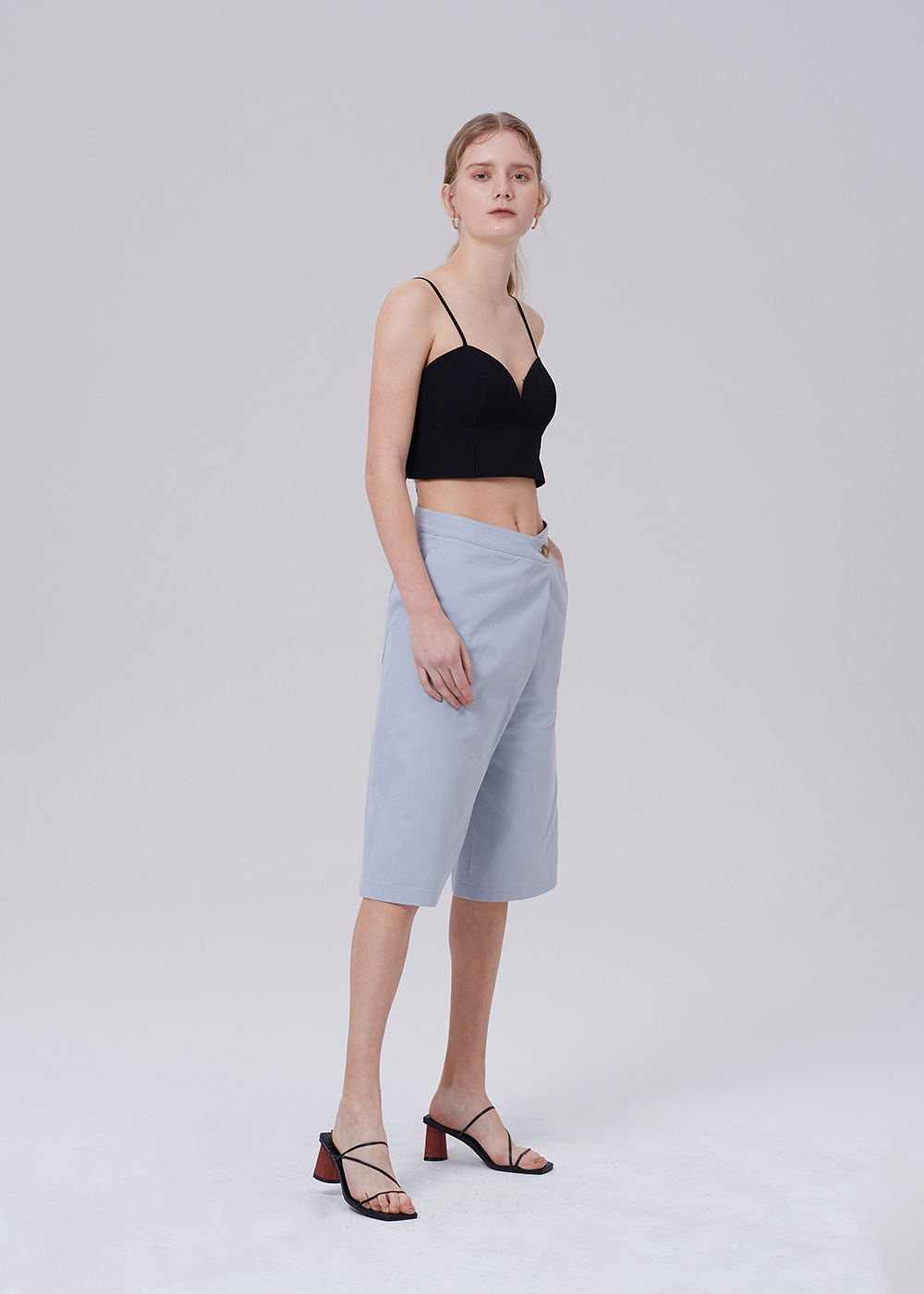 Wrap Waist Wide Short S_BLUE