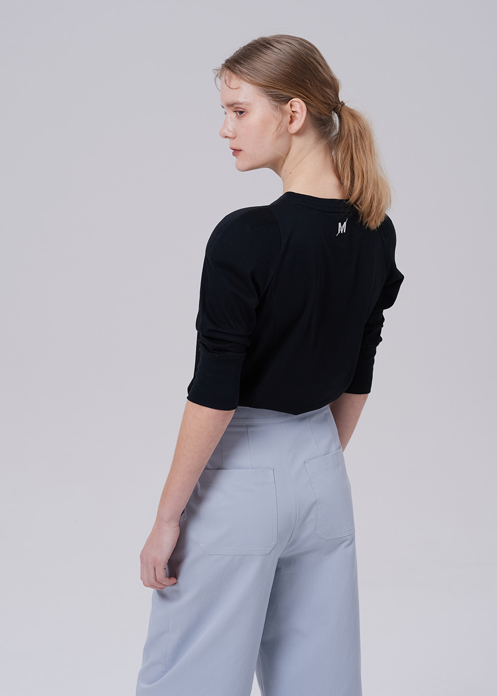 Power Shoulder Sweatshirt BLACK